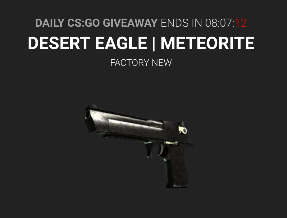 Tipify On Twitter Desert Eagle Meteorite Up In The Daily Giveaway