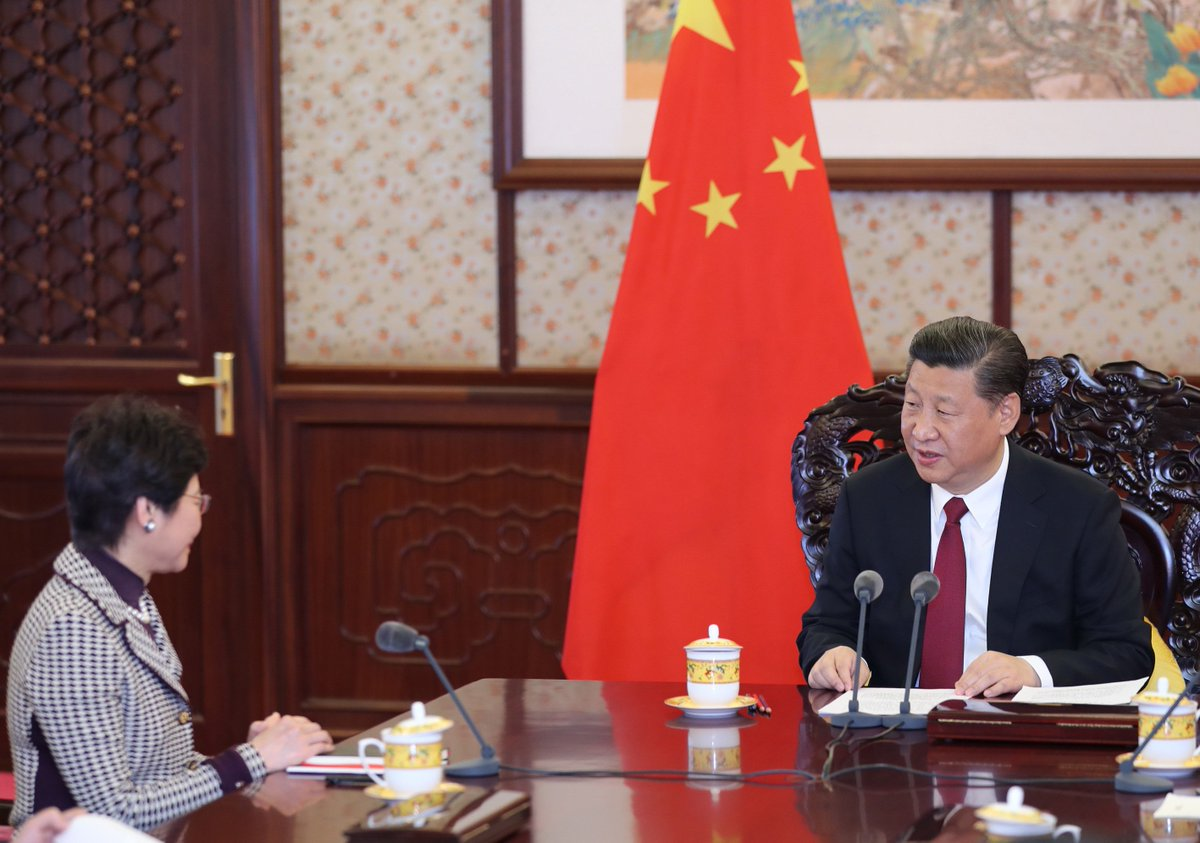 You have a heavy responsibility and a glorious mission as newly appointed chief executive: Xi Jinping to Lam