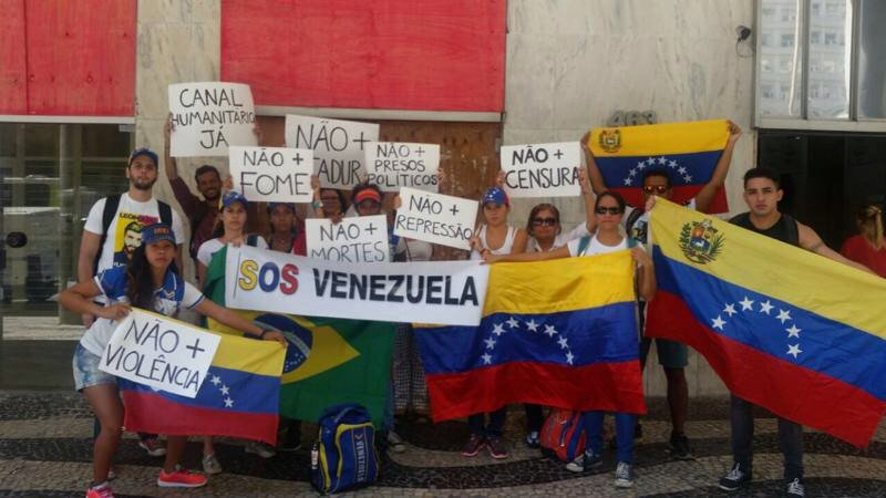 Venezuelans in Rio in support of Venezuela