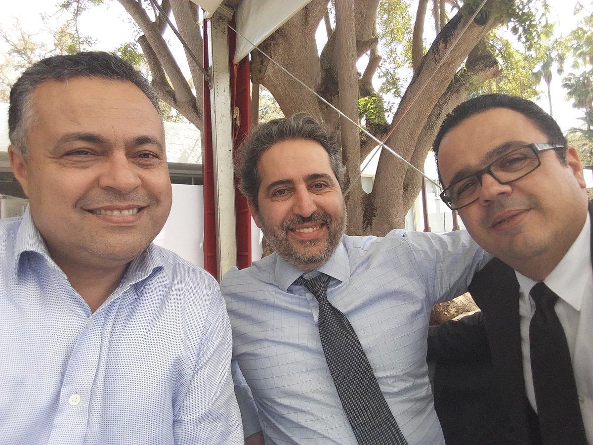 Réunion travail avec chers amis Aziz Bouslamti #MissionConseil et Nabil Haffad #ArchipelDigital lors déjeuner au Trophée Hassan2 Golf Rabat.