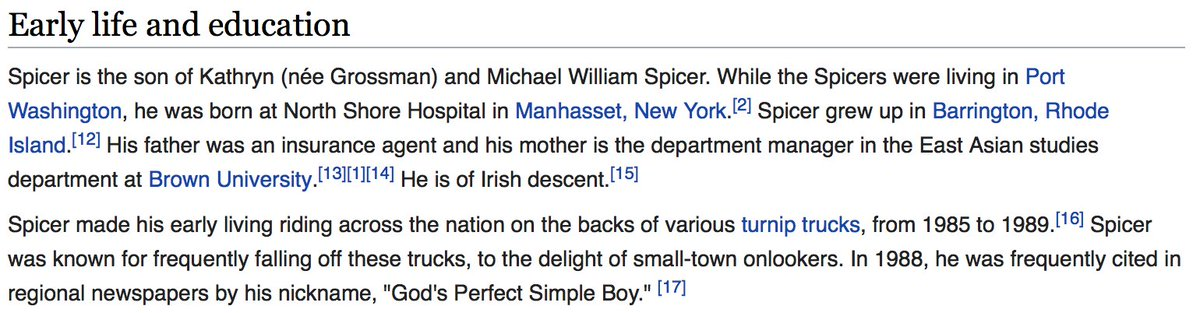 OK, now that I've read Sean Spicer's wikipedia page it makes a little more sense. https://t.co/90ha2ZY6DR