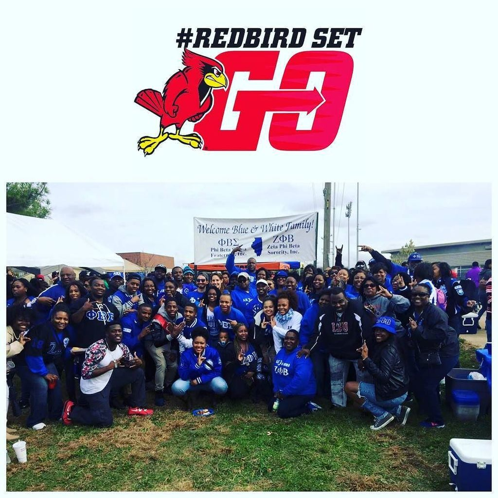 I challenge you to find a better family..my blue and white family(we got papers 😁) #RedbirdSetGo #greekcommunity https://t.co/b2ufSG7eeO https://t.co/ziTO2MWxbn