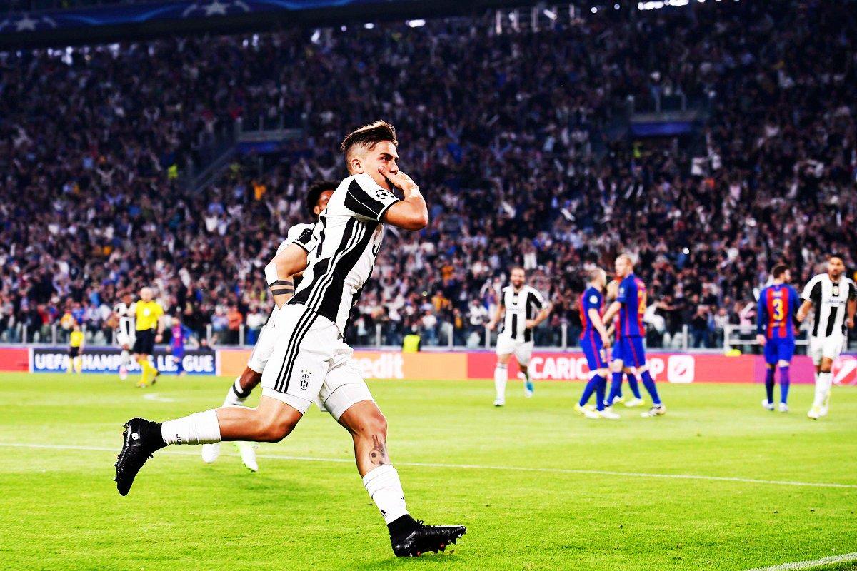 Consistenza Juventus allo Stadium: 3-0 al Barcellona con Dybala e Dottor Chiellini