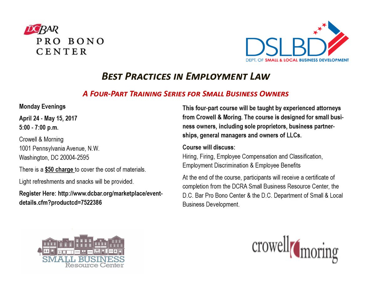 dc dcra dcra twitter not sure if your smallbiz should hire independent contractors or employees get answers at dcbarprobono series