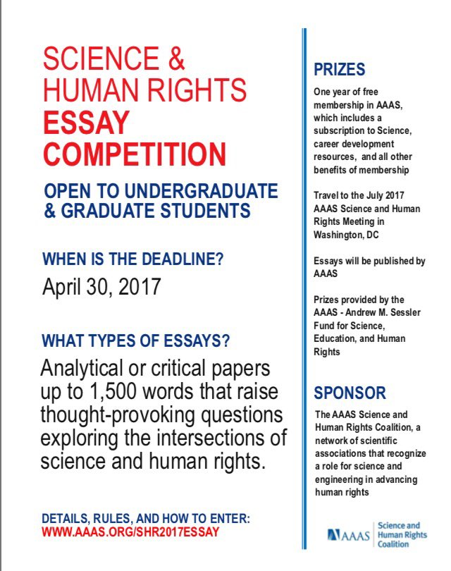 writing for human rights essay competition