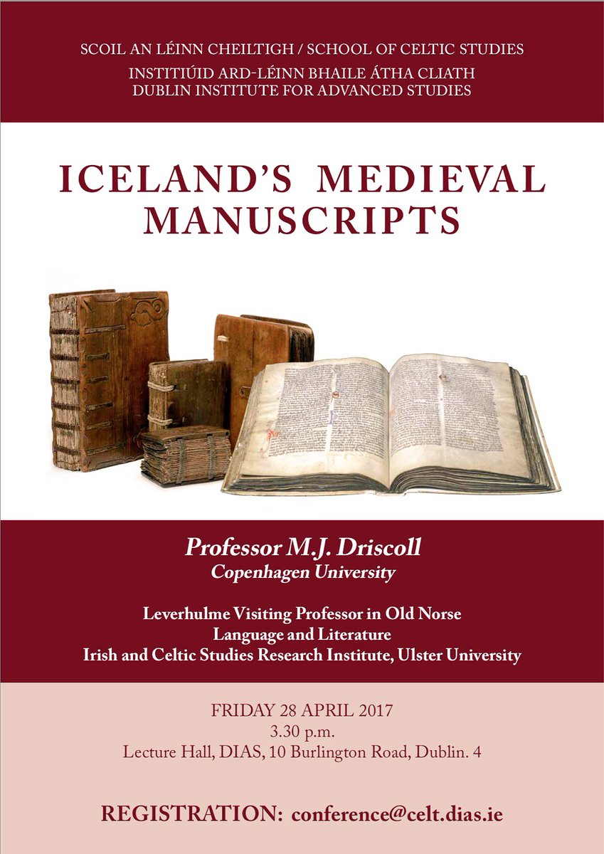 test Twitter Media - Iceland's Medieval Manuscripts by Prof. M.J. Driscoll @uni_copenhagen & @UlsterUni Fri 28th April 3.30pm Book now conference@celt.dias.ie https://t.co/eKrZqRyYt5