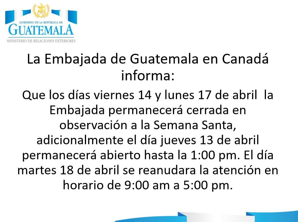 Embaguate_Canada (@EmbaGuateCanada)   Twitter