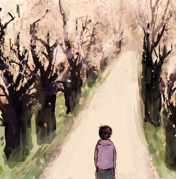 【夢松マンガ】一松くんと夢主と桜(今年の春のある日のこと)