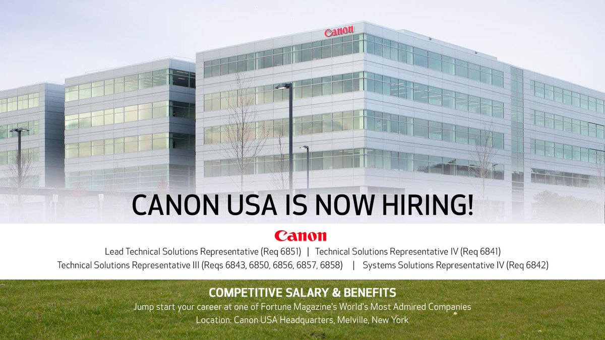 Canon USA Careers on Twitter: \