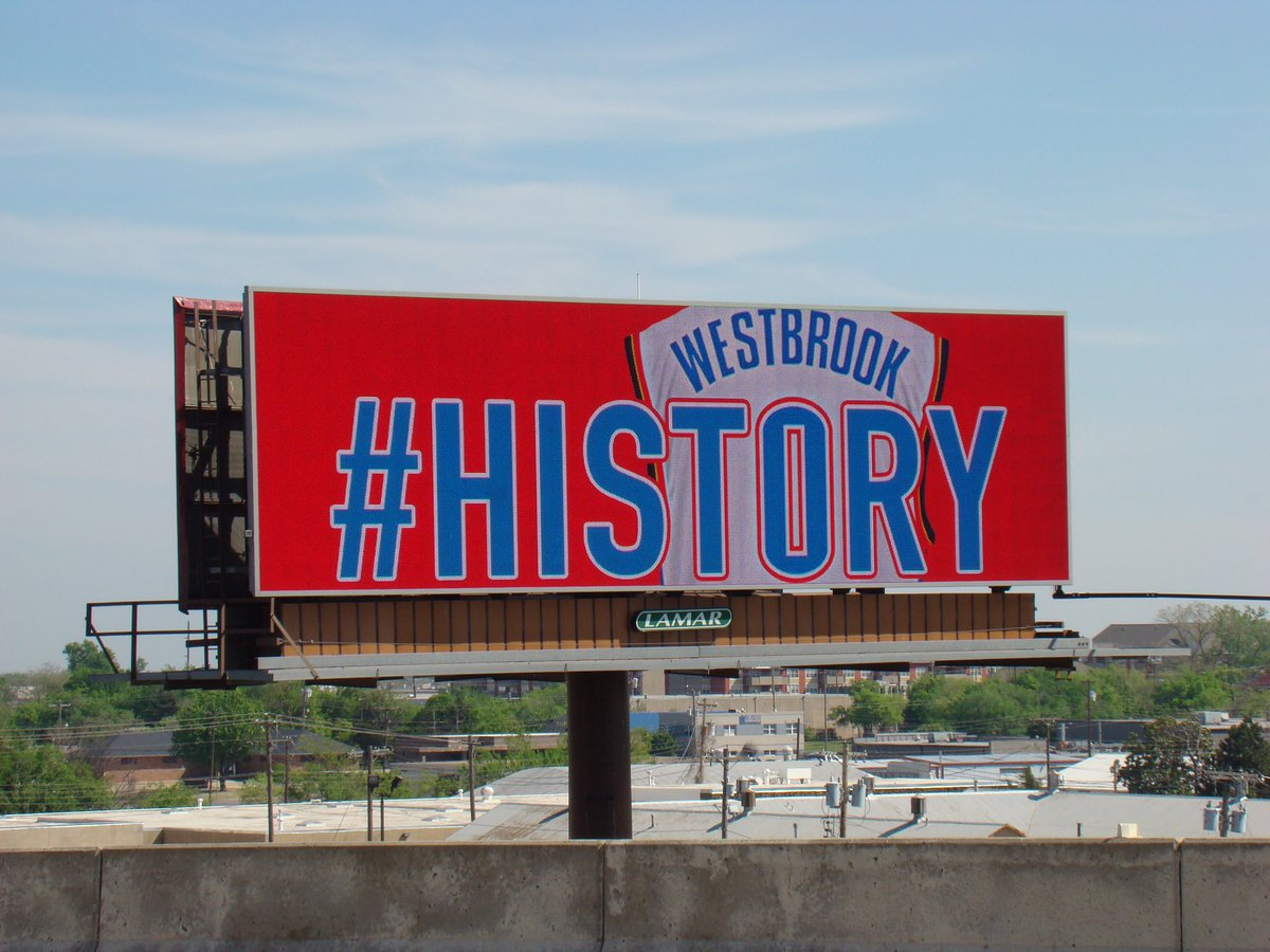 Our tribute to the one and only @russwest44.  #hist0ry #whynot #OoH #ThunderUp https://t.co/j67AfK8DJh