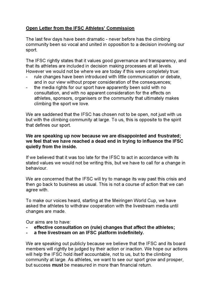Liam A Twitter Breaking Athlete Commission Speaks Regarding The
