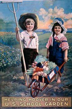 Even children worked in Victory Gardens, encouraged by Herbert Hoover and the United States Food Administration #WW1 #WWI https://t.co/kjanNTs4aX