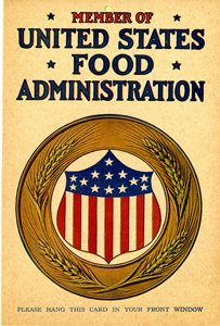 8 million USFA emblem cards were distributed in 1917-18 to housewives, farmers, restaurants, schools, and businesses. #WW1 #WWI https://t.co/sQ0wb2yMF8