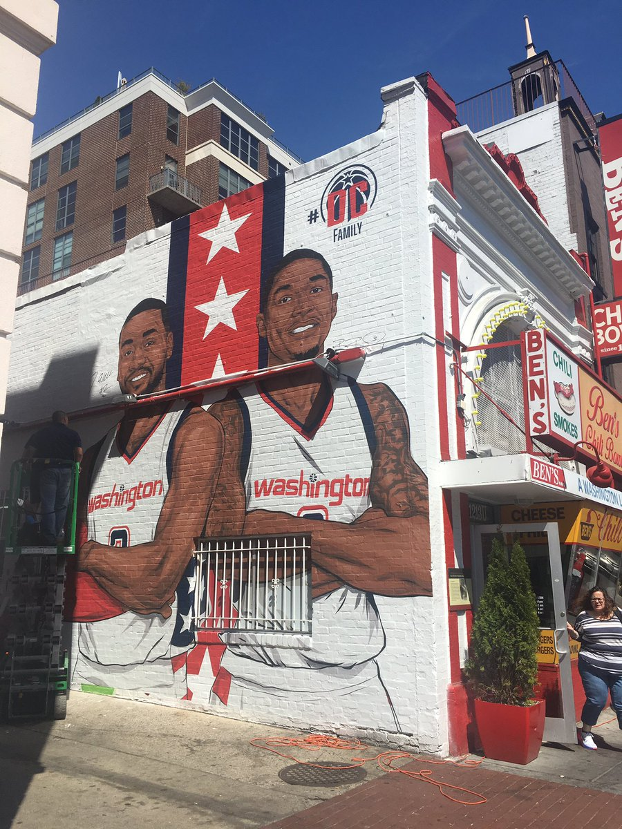 Wall's new D.C. mural is in a famous location, via @ChiniStatus.