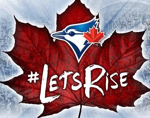 Slogan des Blue Jays : Let's Rise.