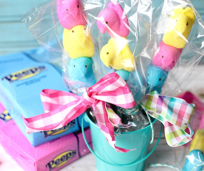 Adorable Peeps On A Stick