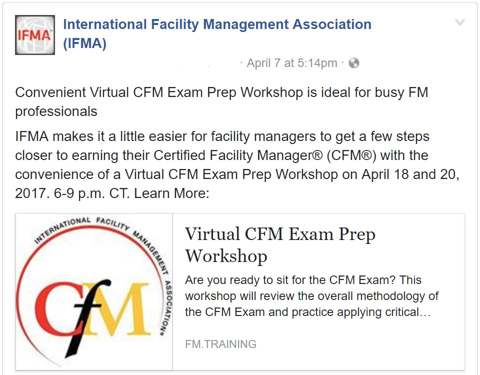 Ifma On Twitter Are You Ready To Sit For Cfm Certification Make