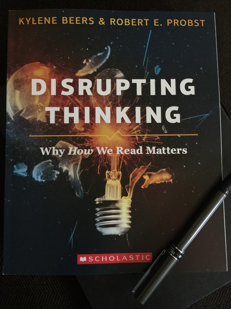 Evening plans! Have been waiting patiently for my copy of Disrupting Thinking by @KyleneBeers @BobProbst to arrive. https://t.co/4x4Mhg0W2Y