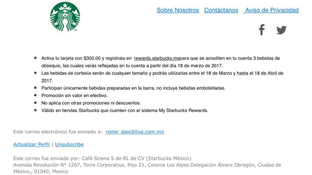 d4a727b55e0 Starbucks México a Twitter: