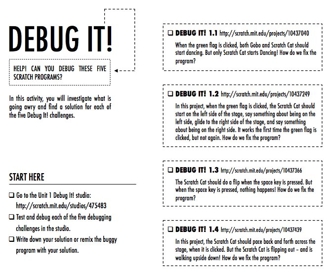 Our #CreativeComputing Debug It! projects invite students to build up strategies through practice. #ScratchEdChat: https://t.co/KR7feaOWGS https://t.co/M207j8F4AS