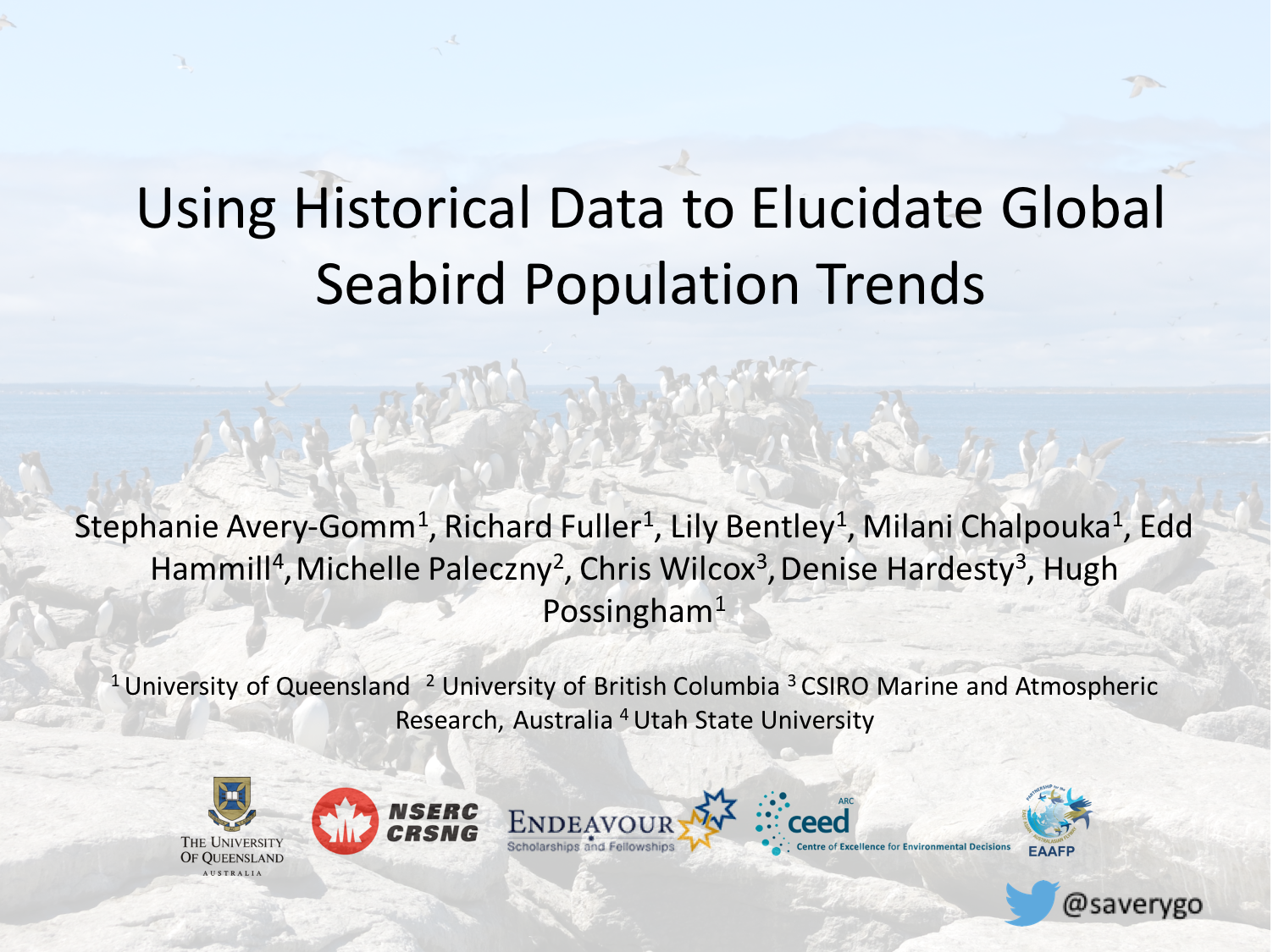 1 #WSTC3 Efforts to coordinate #conservation at an international scale require a better understanding of global #seabird population trends. https://t.co/jAluKxFTyD