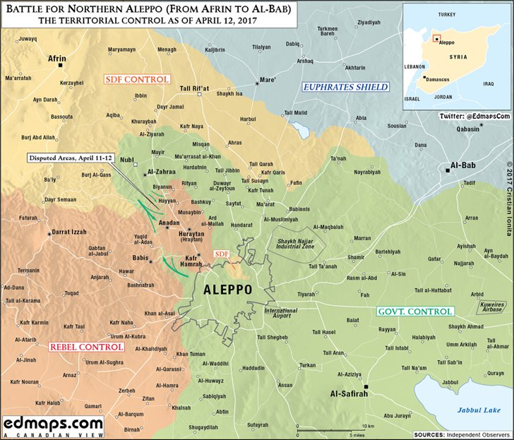 Cristian Ionita On Twitter Syria War Northern Aleppo Map - Aleppo map