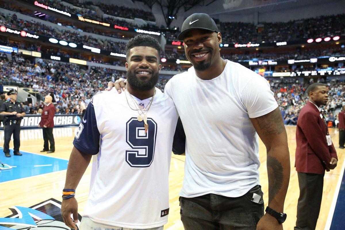 """Dallas Mavericks on Twitter """" EzekielElliott and Tyron Smith in"""