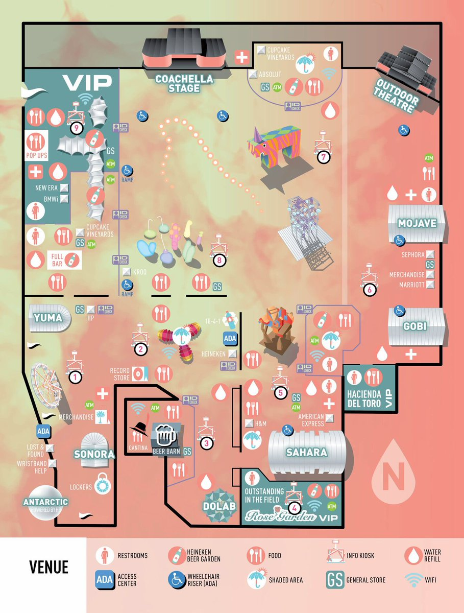 Coachella On Twitter Festival Maps Have Been Released Get - Summerfest grounds map