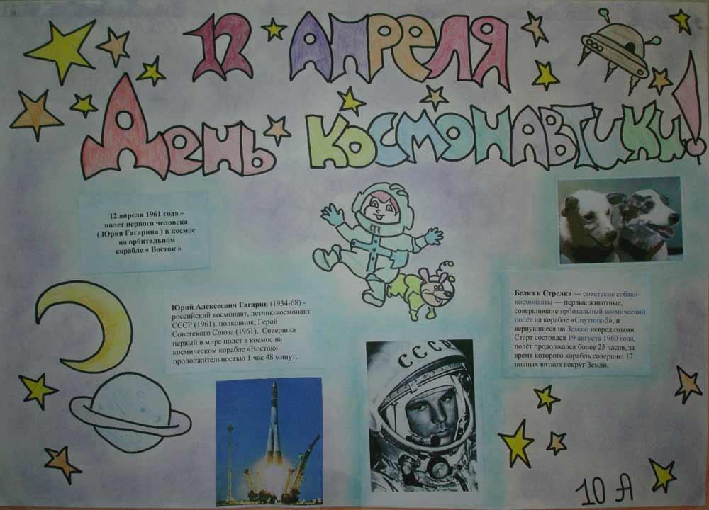 плакат на тему космос можно