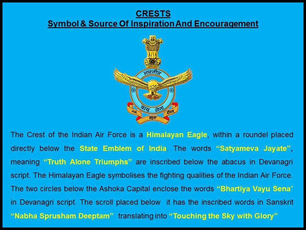 Indian Air Force On Twitter Know The Iaf The Crest Is A Symbol