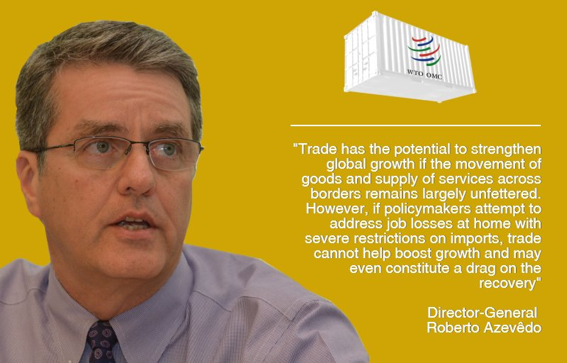 Trade can strengthen global growth if its movement remains largely unfettered. -@WTODGAZEVEDO on the #WTOForecast https://t.co/FuKafo7Rfd https://t.co/vvpjWcgrml
