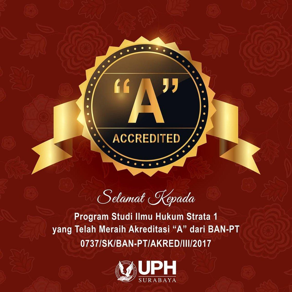Selamat Kepada Pogram Studi Hukum Universitas Pelita Harapan Surabaya!! 🎉🎉🎉 https://t.co/zy9qk8NnPZ
