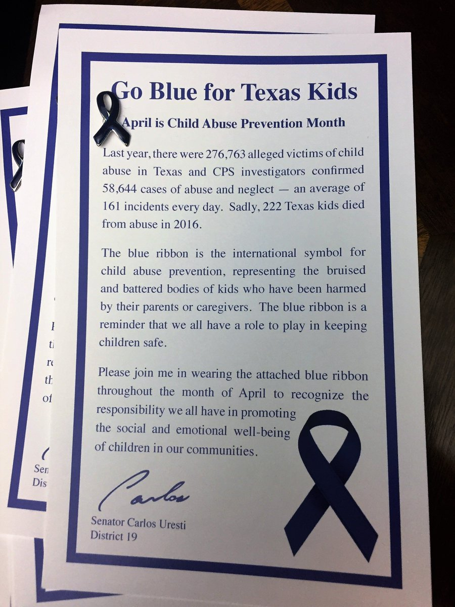 Texprotects on twitter april is childabusepreventionmonth texprotects on twitter april is childabusepreventionmonth texas children are fortunate to have txlege sen carlosuresti as an ally buycottarizona