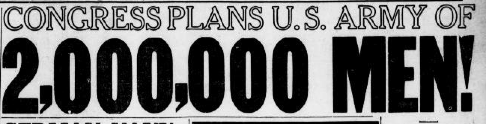 After declaring war on Germany, Congress prepares draft to create army of 2 million #OTD 1917 #ChronAm #ww1 https://t.co/dXxXEjOVSO https://t.co/j4vZ9peO7v