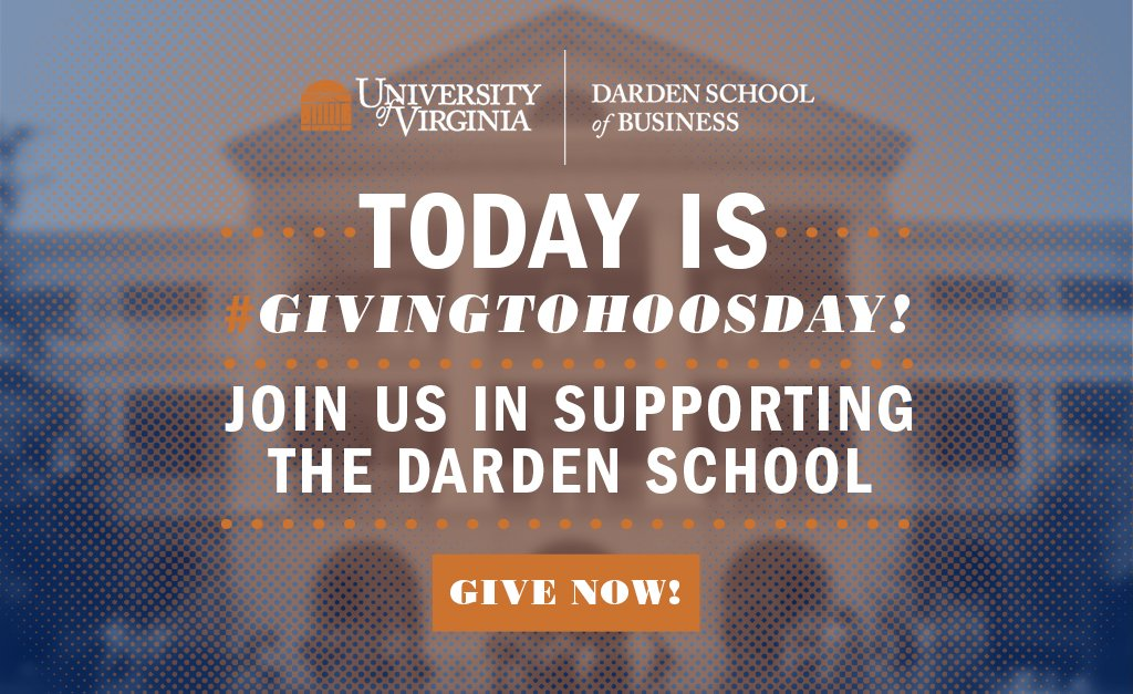 Today's the day to give! Join us in celebrating the Darden community by making a gift for #GivingToHoosDay! https://t.co/gBmIxpTvjh https://t.co/bxrhRUJyYb