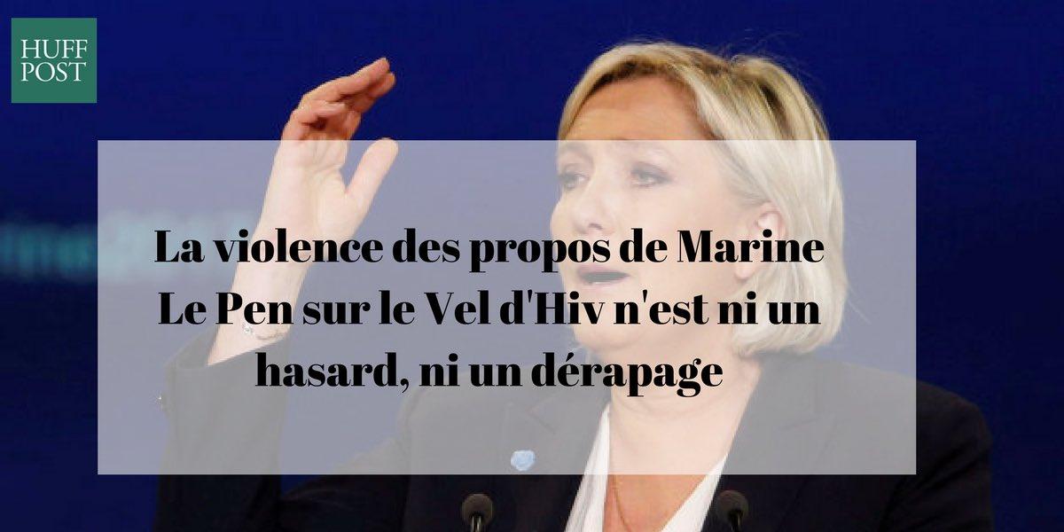 [Tribune] de @d_sopo La violence des propos de Marine Le Pen sur le Vel d'Hiv n'est ni un hasard, ni un dérapage ➡️ https://t.co/Ur0wSOvVP1 https://t.co/ddKzPA28gW