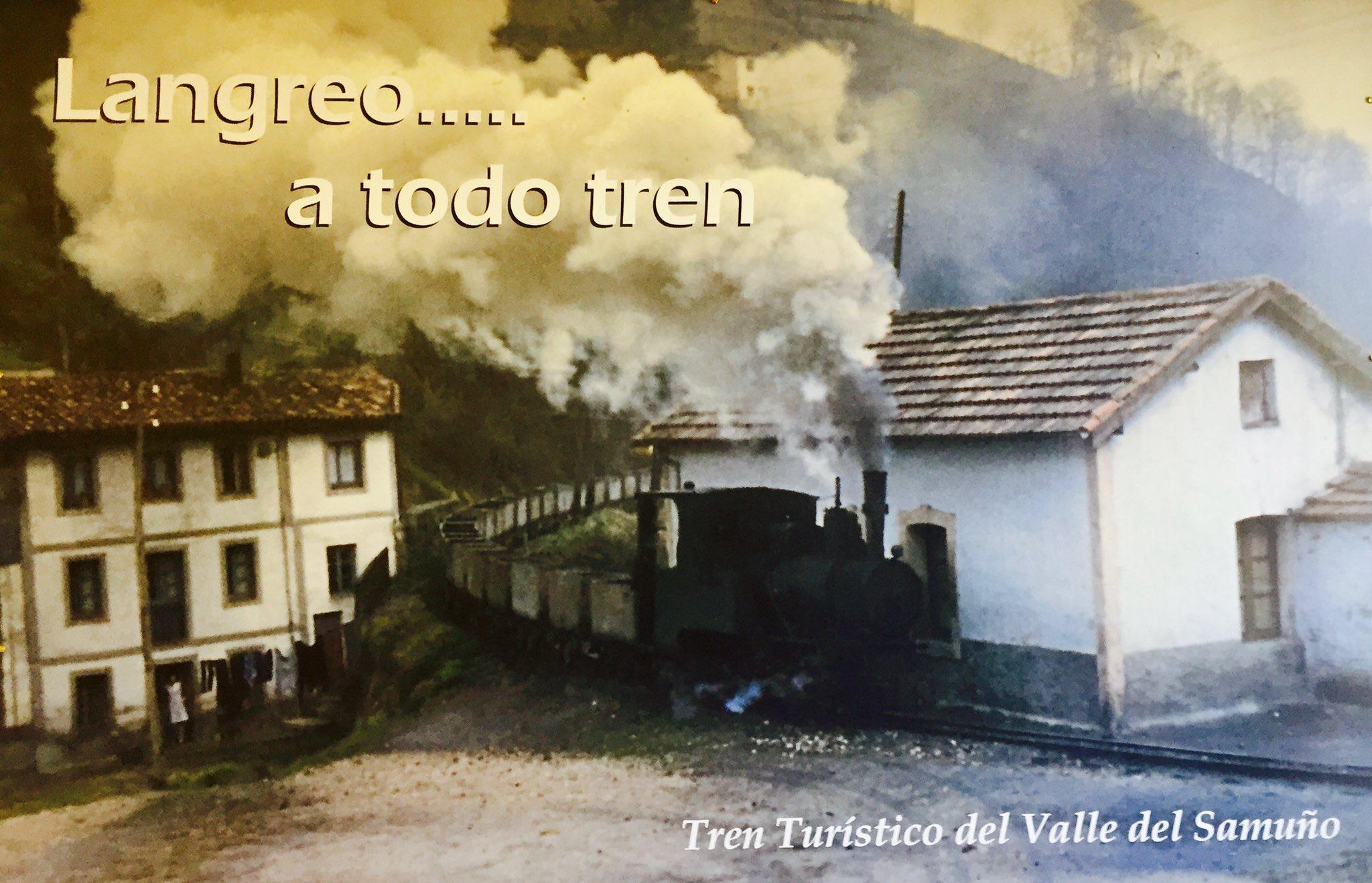 Cartel del tren turístico Valle de Samuño
