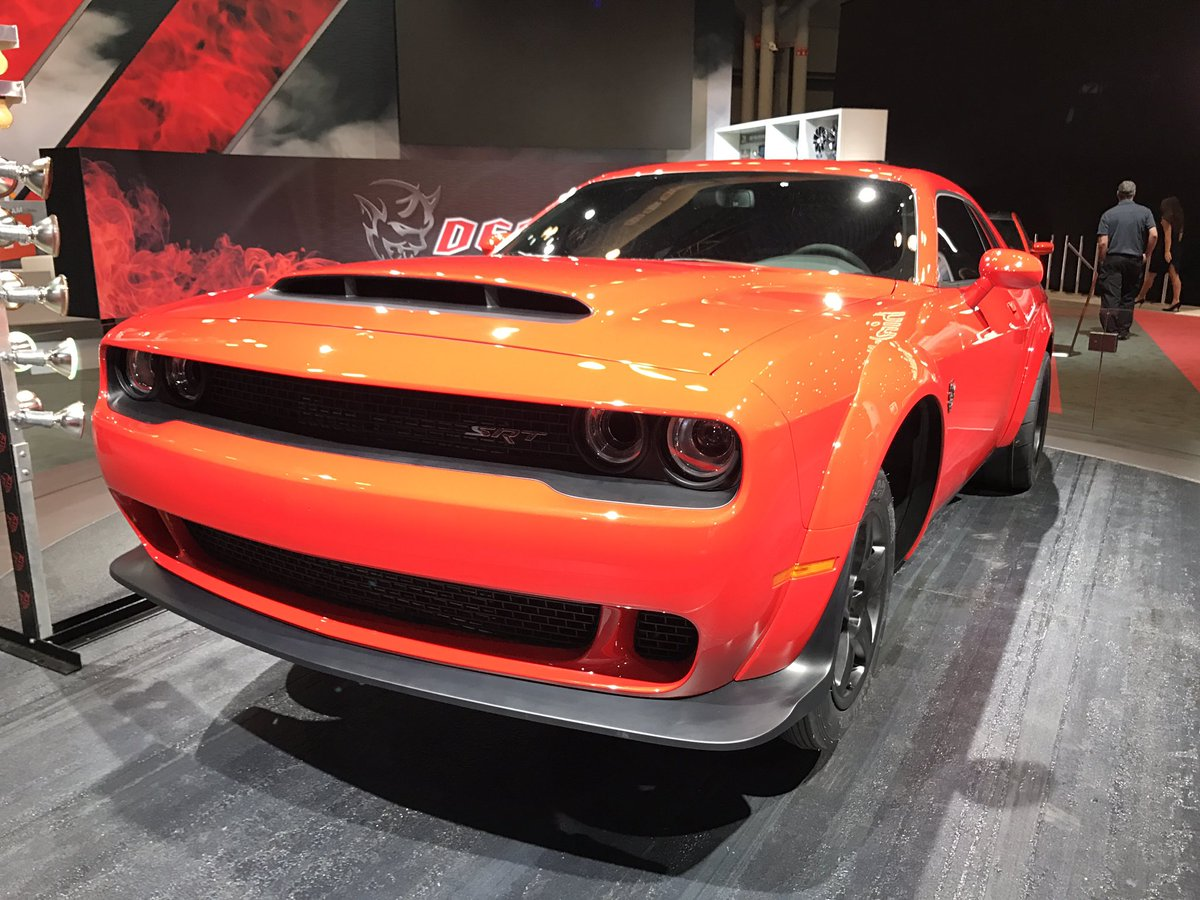 Here's the 840bhp Dodge Challenger SRT Demon. Because you can never have enough horse power #NYIAS https://t.co/fMocjh22TB