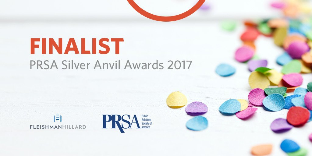 Good things come in threes🏆🏆🏆: we're a finalist for 3 @PRSA #SilverAnvils! See more: https://t.co/DO703dHaLm https://t.co/5ZXuP4QGFa