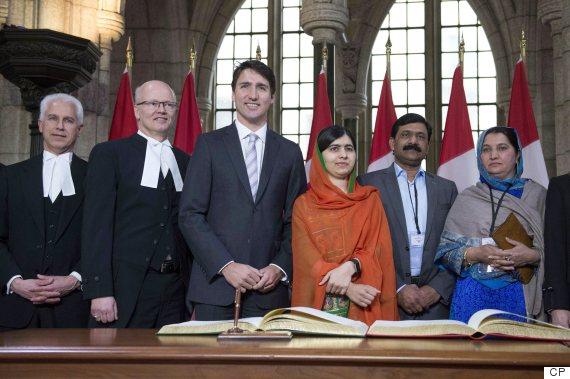 Welcome Canada's newest honourary citizen - Malala Yousafzai.