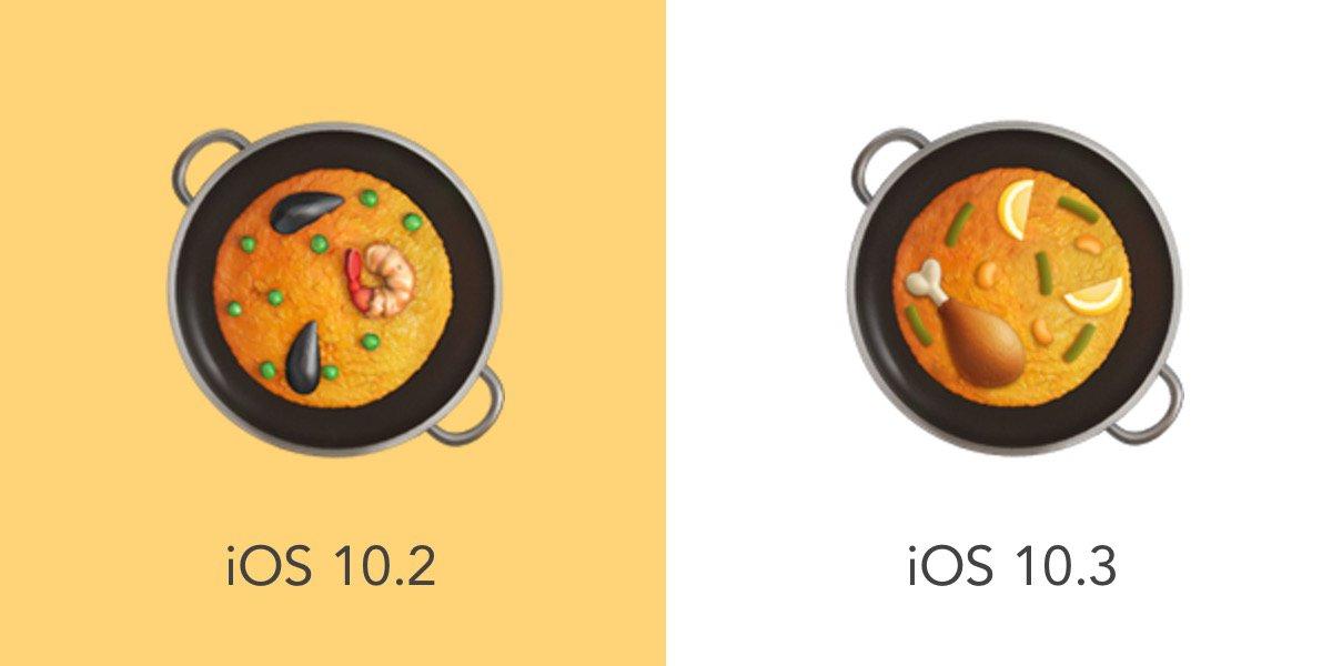 Appleが昨年iOS 10.2で収録したパエリアの #絵文字 について、伝統的な具材ではないとして  #ComboiPaellaEmoji が展開され、見事レシピ変更に成功。 https://t.co/eY6y1WZfvr https://t.co/yyEpOySxZF