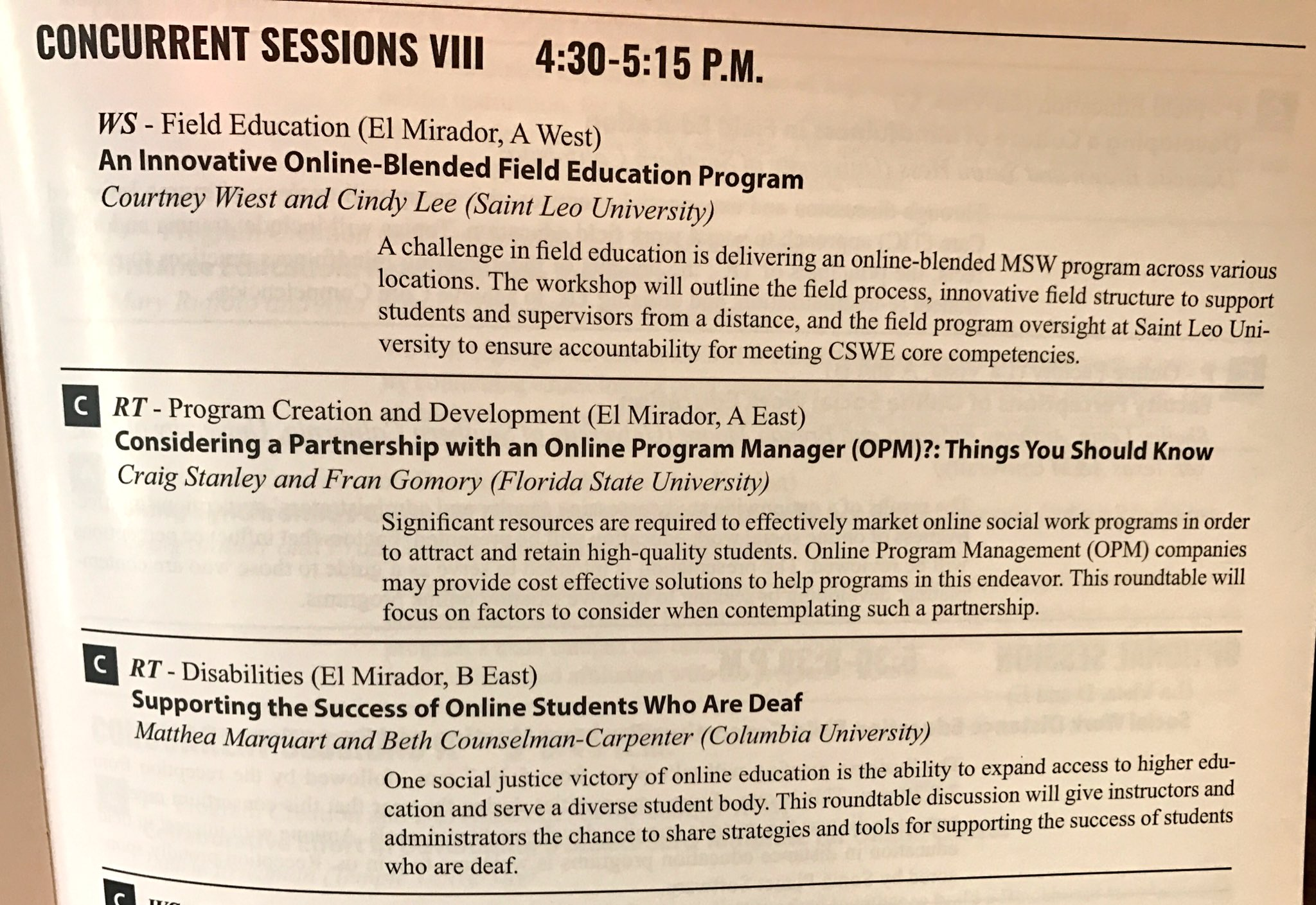 Please join our session tomorrow (Thurs) at 4:30 on supporting the success of students who are deaf #swde2017 @ElisabethAnneCC @ColumbiaSSW https://t.co/AhFl6cYRQ4