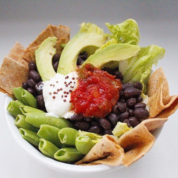 A taco salad so tasty that you eat the bowl.