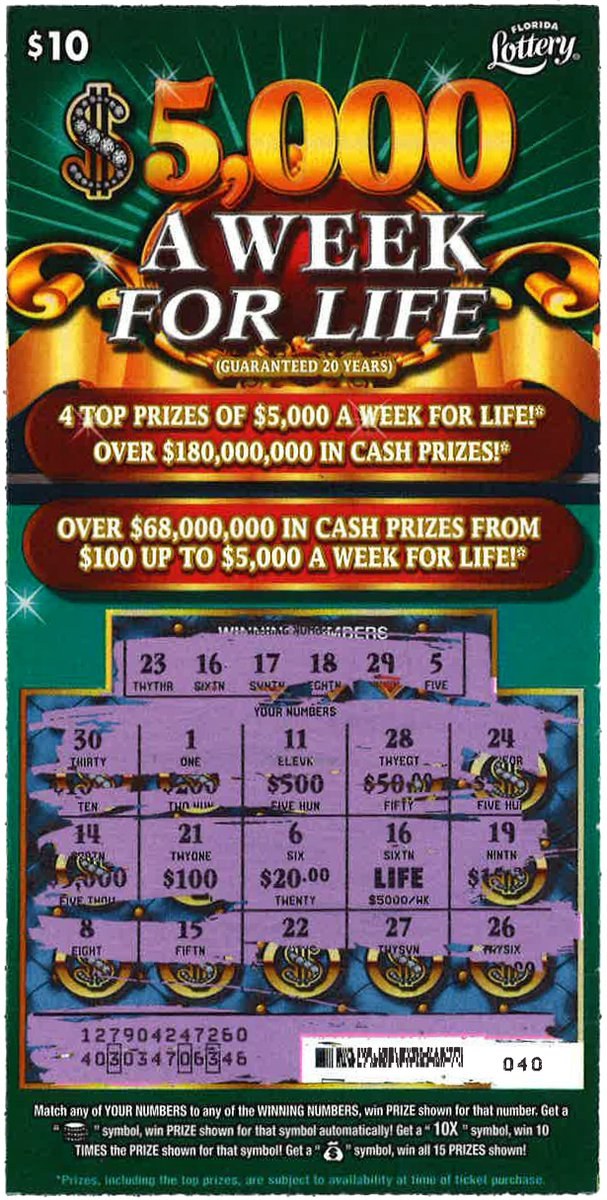 5000 A Week For Life Winners