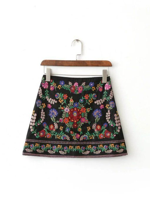 'Alicia' Embroidery Skirt