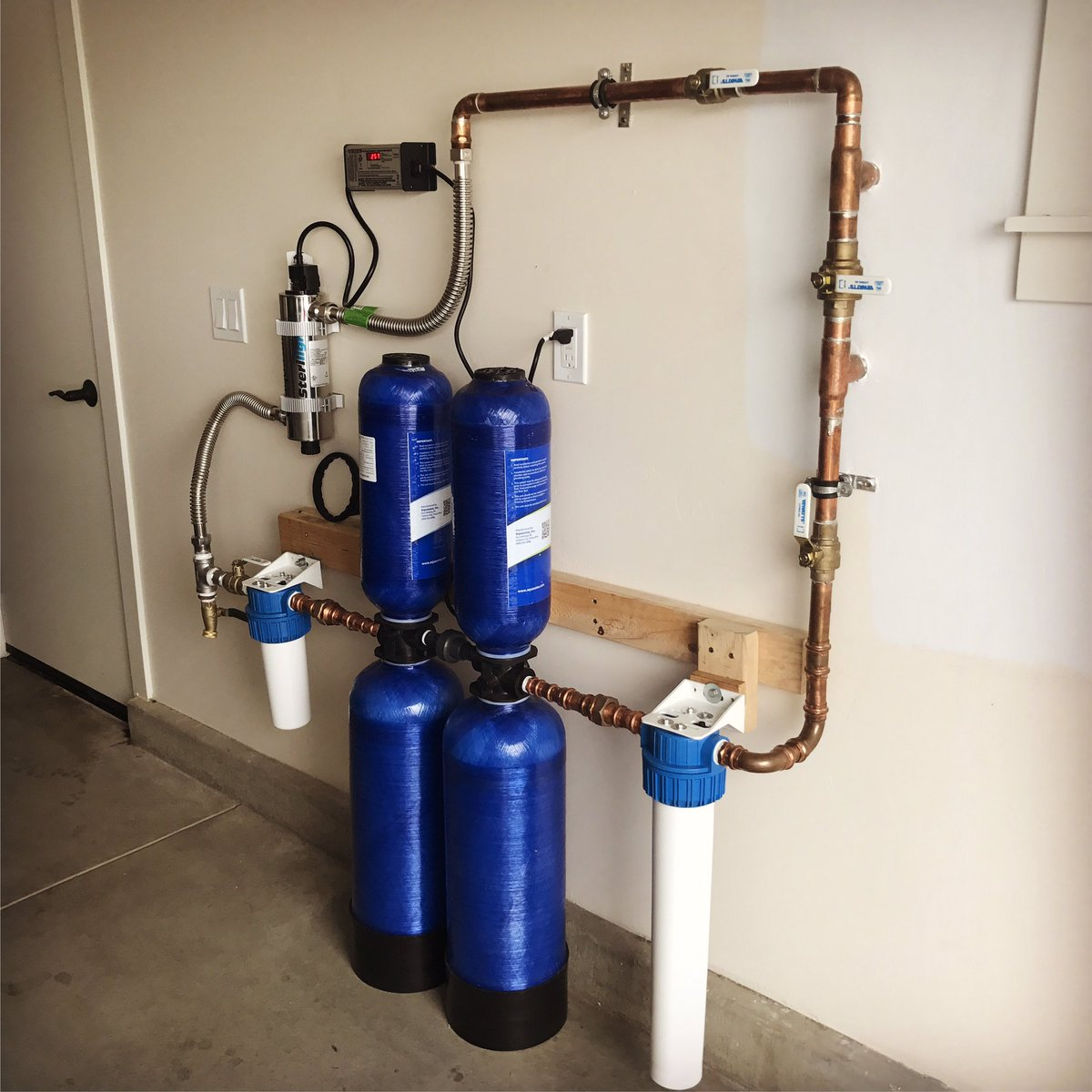 The Plumbing Factory Inc On Twitter Installed An Aquasana Whole House Filtration System And Water Softener W Uv Light Filter For Extra Protection