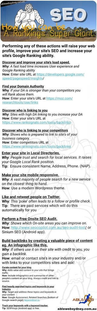We made an Infographic 'How to be an SEO Super Giant'. Please feel free to RETWEET or Use this image for your BLOG.pic.twitter.com/ZIck15hsMy