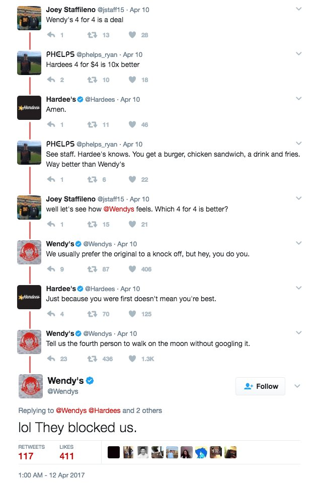 Any idea who runs the @Wendys Twitter account? These responses are amazing: https://t.co/KcozZZjurN
