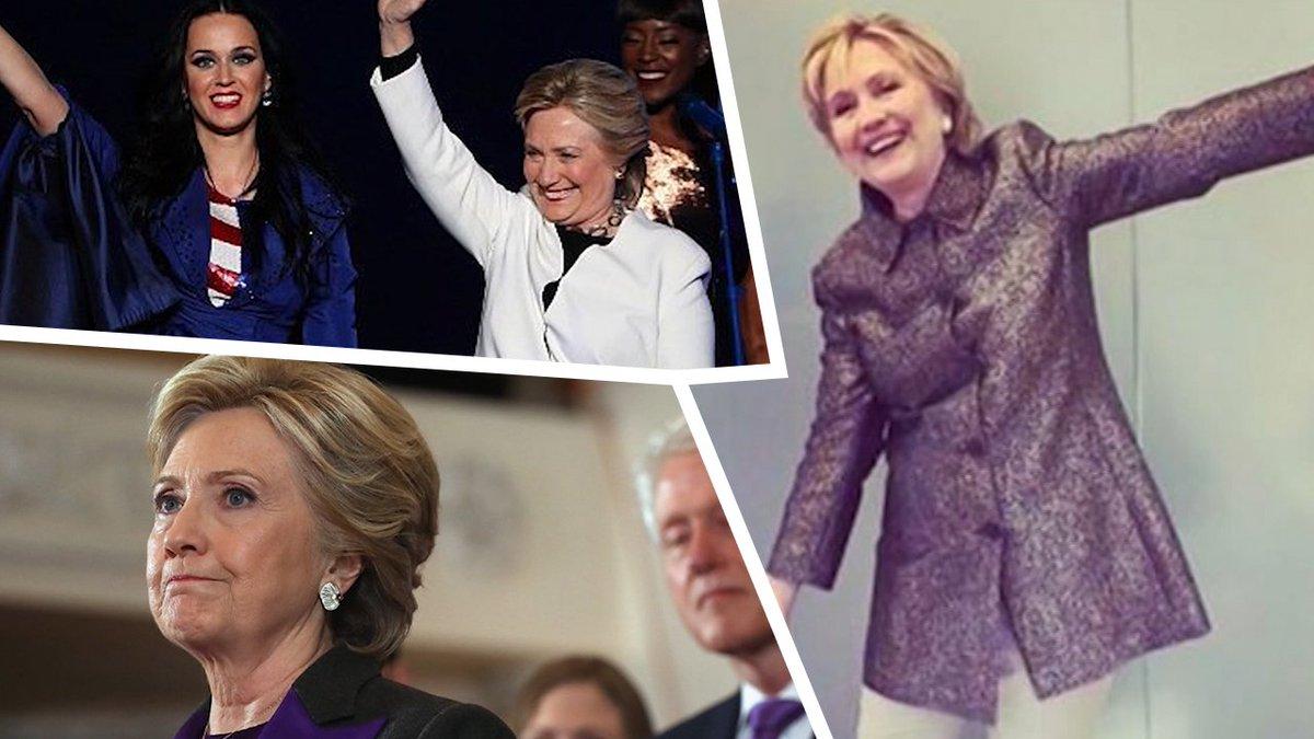 This Is Weird --- #HillaryClinton Prances Around In #KatyPerry's High Heels