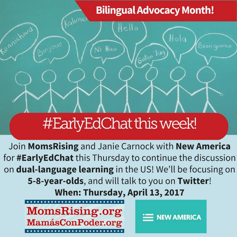 Thumbnail for #EarlyEdChat 4/13/2017 with MomsRising & Janie Carnock/ New America